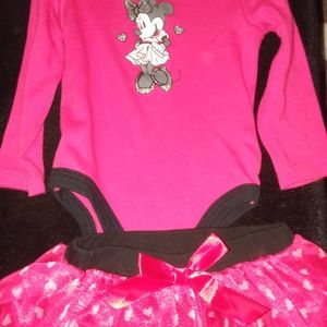 Beautiful Minnie Mouse 6-9 months outfit